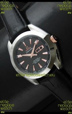 MEGA Seamaster Aqua Terra 150M Co-Axial Watch in Black Dial