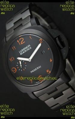 Panerai Luminor Marina Japanese Replica Watch in Orange Markers
