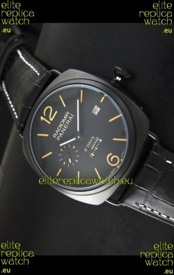 Panerai Radiomir 8 Days Japanese Replica Watch in PVD Casing