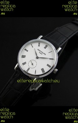 Patek Philippe Calatrava Japanese Mens Watch in White Dial