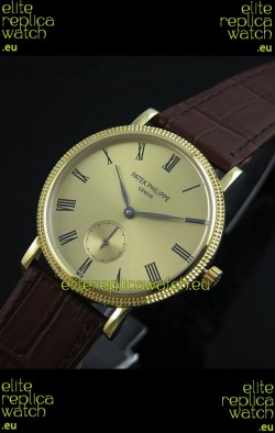 Patek Philippe Calatrava Japanese Mens Watch in Yellow Gold