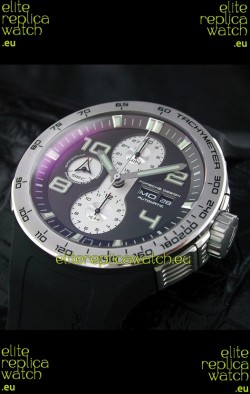 Porsche Design Flat Six P'6340 Swiss Chronograph Watch in Black Dial