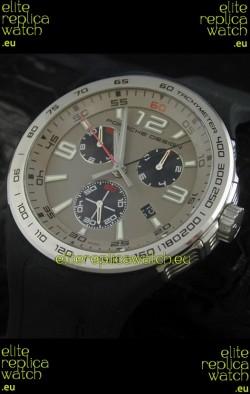Porsche Design Flat Six P'6320 Japanese Watch in Grey Dial