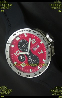 Porsche Design Flat Six P'8340 Swiss Chronograph Watch in Red Dial