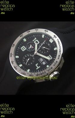 Porsche Design Flat Six P'8340 Swiss Chronograph Watch in Black Dial