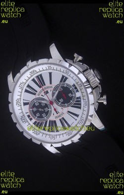 Roger Dubius Excalibur Chronoexcel Swiss Watch in White Dial