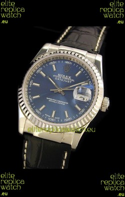 Rolex Datejust Mens Japanese Replica Watch in Blue Dial