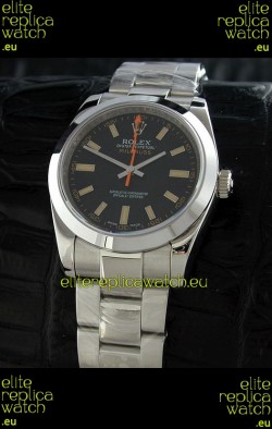 Rolex Oyster Perpetual Milgauss Japanese Replica Watch in Black Dial