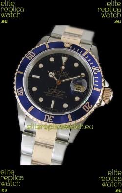 Rolex Submariner Japanese Watch in Blue Bezel Two Tone Case