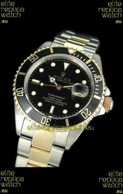 Rolex Submariner Japanese Watch in Black Bezel Two Tone Case