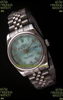 Rolex Datejust Mens Swiss Replica Watch in Light Blue Dial