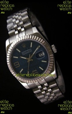 Rolex Datejust Mens Swiss Replica Watch in Blue Dial