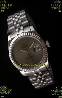 Rolex Datejust Mens Swiss Replica Watch in Grey Dial