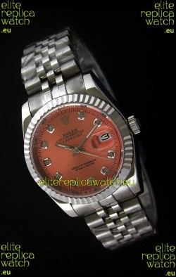 Rolex Datejust Mens Swiss Replica Watch in Orange Dial