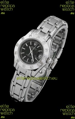 Rolex Datejust Ladies Japanese Replica Ladies Watch in Black Dial