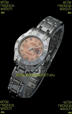 Rolex Datejust Ladies Japanese Replica Ladies Watch in Brown Dial
