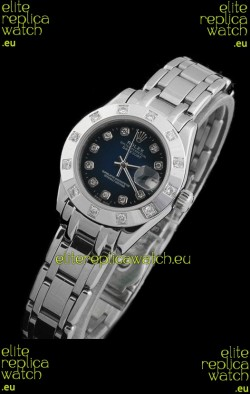 Rolex Datejust Ladies Japanese Replica Ladies Watch in Dark Blue Dial