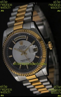 Rolex Day Date Just Japanese Replica Two Tone Gold Watch