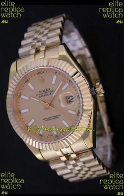 Rolex Datejust Japanese Replica Rose Gold Watch