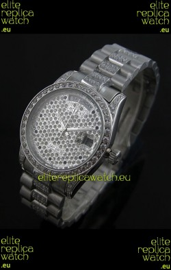 Rolex Day Date swissAutomatic Replica Watch in Diamonds Dial