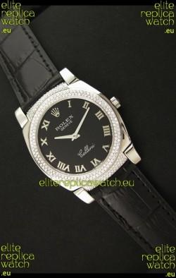 Rolex Cellini Japanese Replica Watch in Black Dial