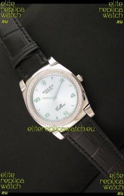 Rolex Cellini Japanese Replica Watch in Lilac Blue Dial