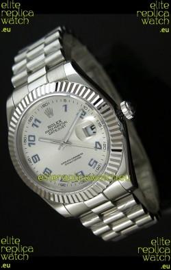 Rolex Replica Datejust Mens Japanese Watch in Arabic Numerals Dial - 41MM