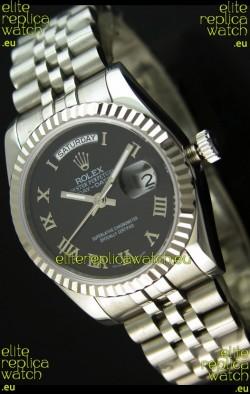 Rolex Replica Datejust Mens Japanese Watch in Black Dial - 41MM