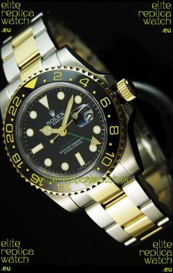 Rolex GMT Masters II Two Tone Swiss Replica Watch - SuperLuminous Hour Markers