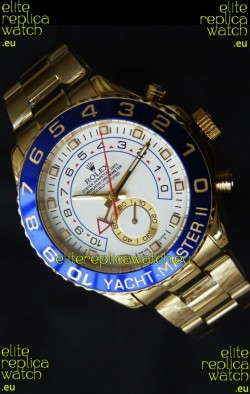 Rolex Replica Yachtmaster II Swiss Watch Yellow Gold - 1:1 Mirror Replica Watch