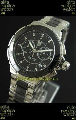 Tag Heuer Formula 1 Chronograph Swiss Replica Ceramic Ladies Watch in Black Bezel