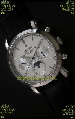 Vacheron Constantin Perpetual Calendar Japanese Watch in Silver Dial