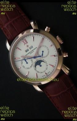 Vacheron Constantin Perpetual Calendar Japanese Watch in Rose Gold