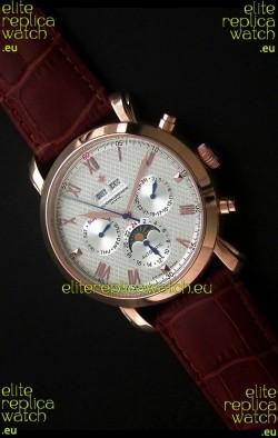 Vacheron Constantin Perpetual Calendar Japanese Watch in White Dial