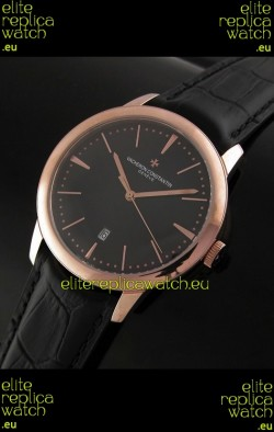 Vacheron Constantin Geneve Automatic Swiss Watch in Black Dial
