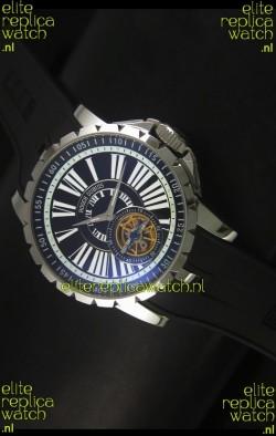 Roger Dubuis Excalibur Tourbillon Watch Japanese Movement - Black Dial