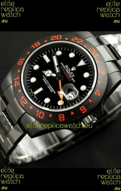 RolexExplorer II Swiss Replica Automatic Black PVD Watch