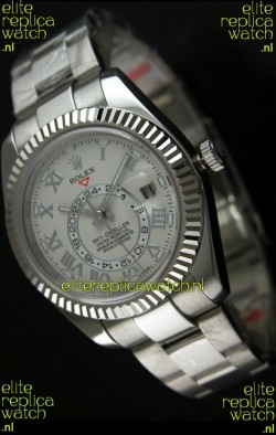 Rolex Sky-Dweller Stainless Steel Watch in White Dial