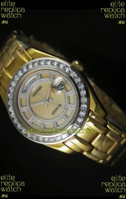 Rolex Day Date Swiss Watch in Rose Gold Case