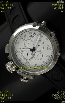 U-Boat Flightdeck Rattrapante Japanese Automatic Watch in Steel Casing