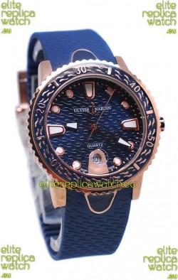 Ulysse Nardin Lady Diver Replica Watch in Gold Casing