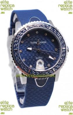 Ulysse Nardin Lady Diver Starry Night Replica Watch in Dark Blue Dial