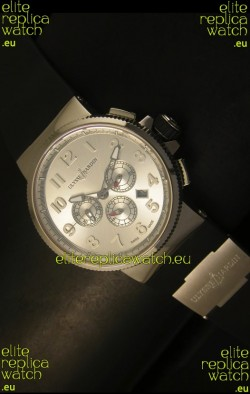 Ulysse Nardin Marine Chronograph Stainless Steel Arabic Dial - 1:1 Mirror Replica