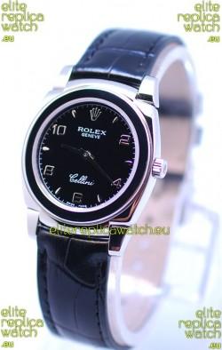 Rolex Cellini Cestello Ladies Swiss Watch All Black