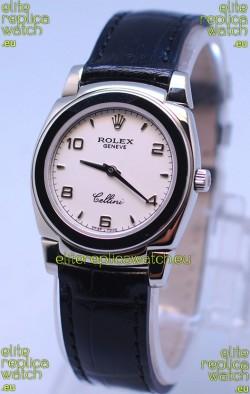 Rolex Cellini Cestello Ladies Swiss Watch in White Dial