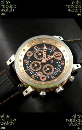 B.R.M.0011G6 Japanese Replica Quartz Watch in Black&Rose Gold Dial