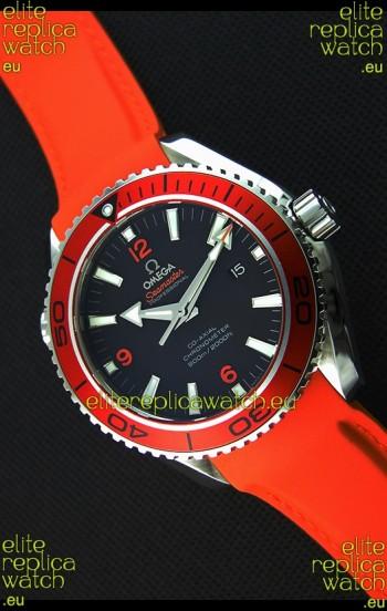 Omega Seamaster Planet Ocean Swiss Orange Strap Replica 45MM 1:1 Ultimate Edition Watch