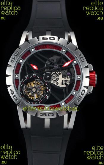 Roger Dubuis Excalibur Spider Flying Tourbillon Skeleton Titanium Casing 1:1 Mirror Swiss Watch