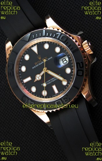 Rolex Yachtmaster 116655 Everose 40MM Cal.3135 Swiss 1:1 Ultimate 904L Steel Watch