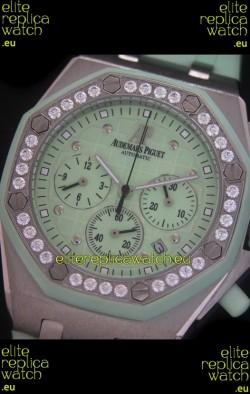 Audemars Piguet Royal Oak Offshore Lady Alinghi Swiss Watch in Light Green Dial